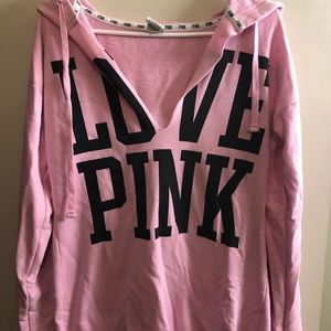 Victoria's Secret PINK deep v-neck sweatshirt